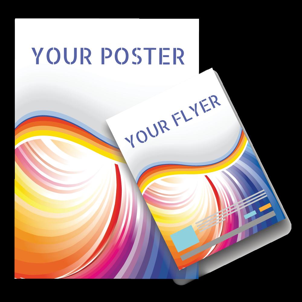 promotional material set package poster flzer